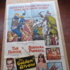 Cine: THE GOLDEN ARROW PÓSTER ORIGINAL DE LA PELÍCULA, ORIGINAL, DOBLADO, AÑO 1963, HECHO EN U.S.A.. Lote 44038476