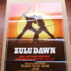 Cine: ZULU DAWN PÓSTER ORIGINAL DE LA PELÍCULA, ORIGINAL, DOBLADO, AÑO 1979, SIMON WARD, HECHO EN U.S.A.. Lote 44053413