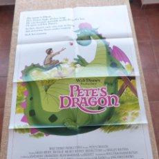 Cine: PETE´S DRAGON PÓSTER ORIGINAL DE LA PELÍCULA, ORIGINAL, DOBLADO, AÑO 1984, JIM DALE, HECHO EN U.S.A.. Lote 44054052
