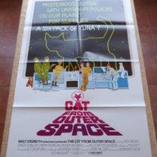 Cine: CAT FROM OUTER SPACE PÓSTER ORIGINAL DE LA PELÍCULA, ORIGINAL, DOBLADO, AÑO 1978, HECHO EN U.S.A.. Lote 44054207