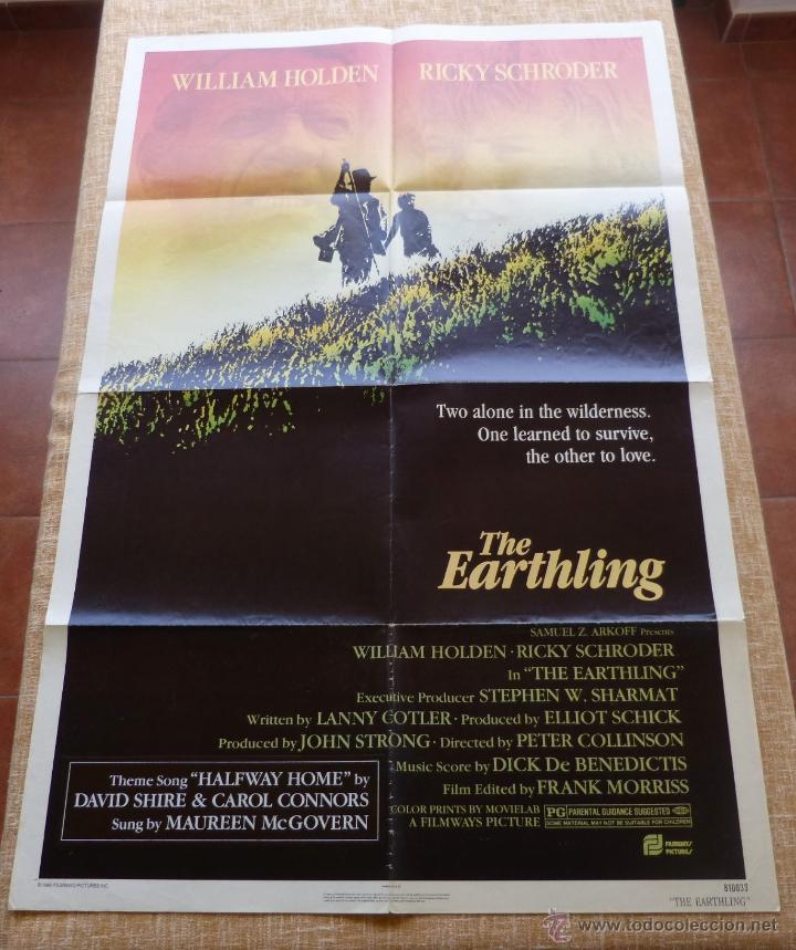THE EARTHLING PÓSTER ORIGINAL DE LA PELÍCULA, ORIGINAL, DOBLADO, AÑO 1981, HECHO EN U.S.A. (Cine - Posters y Carteles - Aventura)