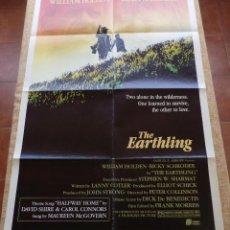 Cine: THE EARTHLING PÓSTER ORIGINAL DE LA PELÍCULA, ORIGINAL, DOBLADO, AÑO 1981, HECHO EN U.S.A.. Lote 44067175