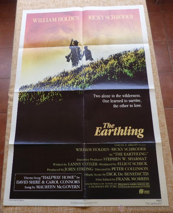 Cine: The Earthling Póster original de la película, Original, Doblado, año 1981, Hecho en U.S.A. - Foto 3 - 44067175