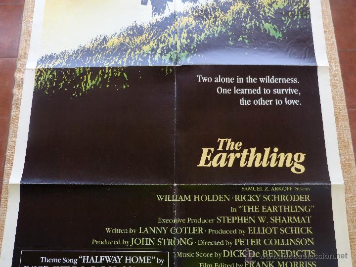 Cine: The Earthling Póster original de la película, Original, Doblado, año 1981, Hecho en U.S.A. - Foto 5 - 44067175