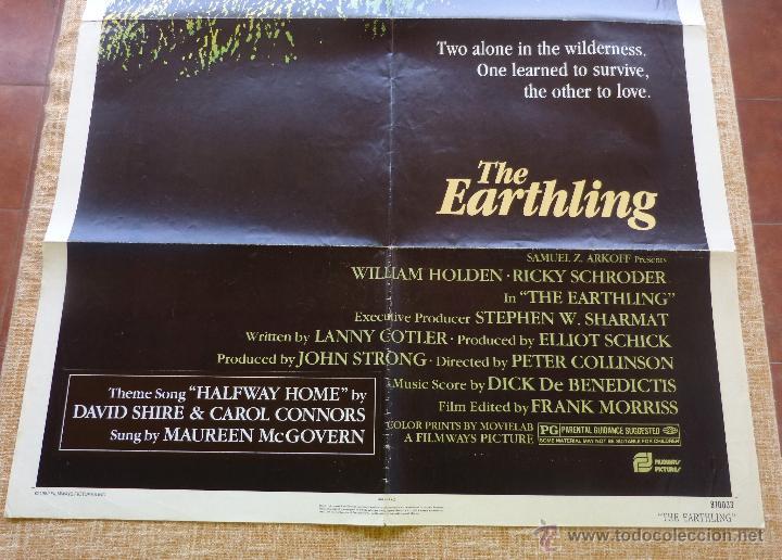 Cine: The Earthling Póster original de la película, Original, Doblado, año 1981, Hecho en U.S.A. - Foto 6 - 44067175