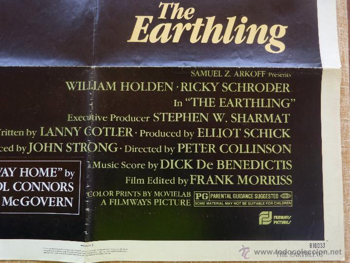Cine: The Earthling Póster original de la película, Original, Doblado, año 1981, Hecho en U.S.A. - Foto 8 - 44067175