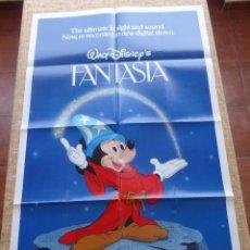 Cine: FANTASIA PÓSTER ORIGINAL DE LA PELÍCULA, ORIGINAL, DOBLADO, AÑO 1983, WALT DISNEY, HECHO EN U.S.A.. Lote 44069034