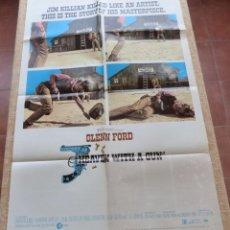 Cine: HEAVEN WITH A GUN PÓSTER ORIGINAL DE LA PELÍCULA, ORIGINAL, DOBLADO, AÑO 1969, HECHO EN U.S.A.. Lote 44069130