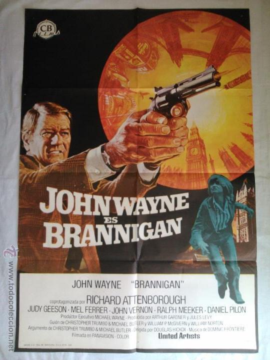 PÓSTER ORIGINAL BRANNIGAN . JOHN WAYNE (1975) (Cine - Posters y Carteles - Acción)