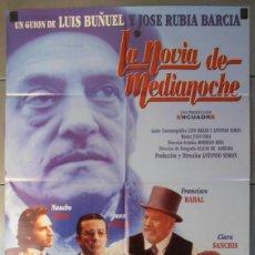 Cine: LA NOVIA DE MEDIANOCHE, CARTEL DE CINE ORIGINAL 70X100 APROX (9437). Lote 44082432