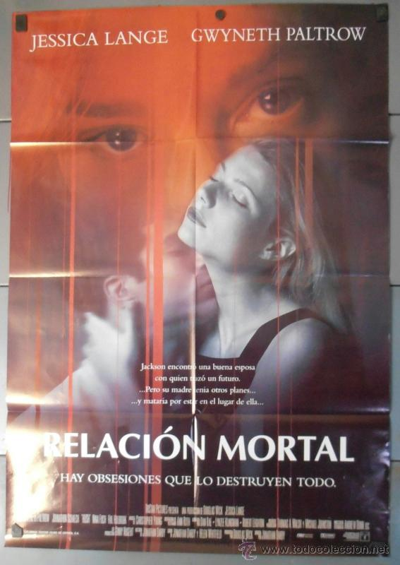 RELACION MORTAL,JESSICA LANGE CARTEL DE CINE ORIGINAL 70X100 APROX (9595) (Cine - Posters y Carteles - Suspense)