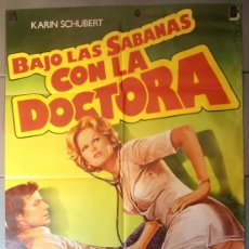 Cine: BAJO LAS SABANAS CON LA DOCTORA, CARTEL DE CINE ORIGINAL 70X100 APROX (10313). Lote 44094197