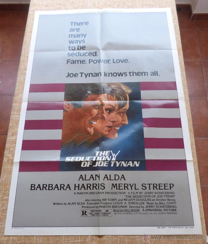 THE SEDUCTION OF JOE TYNAN PÓSTER ORIGINAL DE LA PELÍCULA, ORIGINAL, DOBLADO, AÑO 1979, HECHO EN USA (Cine- Posters y Carteles - Drama)