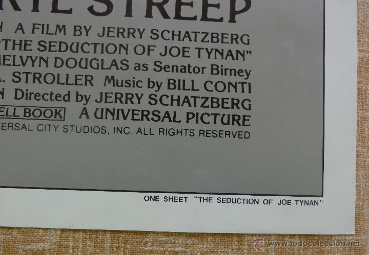 Cine: The Seduction of Joe Tynan Póster original de la película, Original, Doblado, año 1979, Hecho en USA - Foto 8 - 44101269