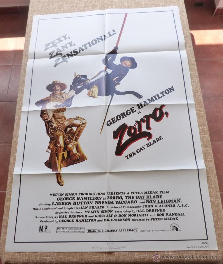 ZORRO: THE GAY BLADE PÓSTER ORIGINAL DE LA PELÍCULA, ORIGINAL, DOBLADO, AÑO 1981, HECHO EN U.S.A. (Cine - Posters y Carteles - Acción)
