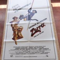 Cine: ZORRO: THE GAY BLADE PÓSTER ORIGINAL DE LA PELÍCULA, ORIGINAL, DOBLADO, AÑO 1981, HECHO EN U.S.A.. Lote 44106937