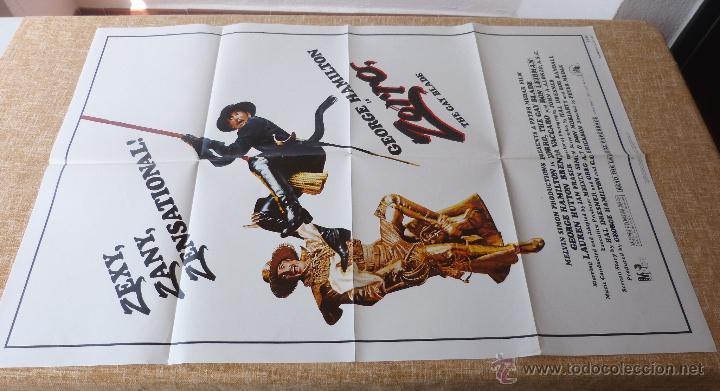 Cine: Zorro: The Gay Blade Póster original de la película, Original, Doblado, año 1981, Hecho en U.S.A. - Foto 2 - 44106937