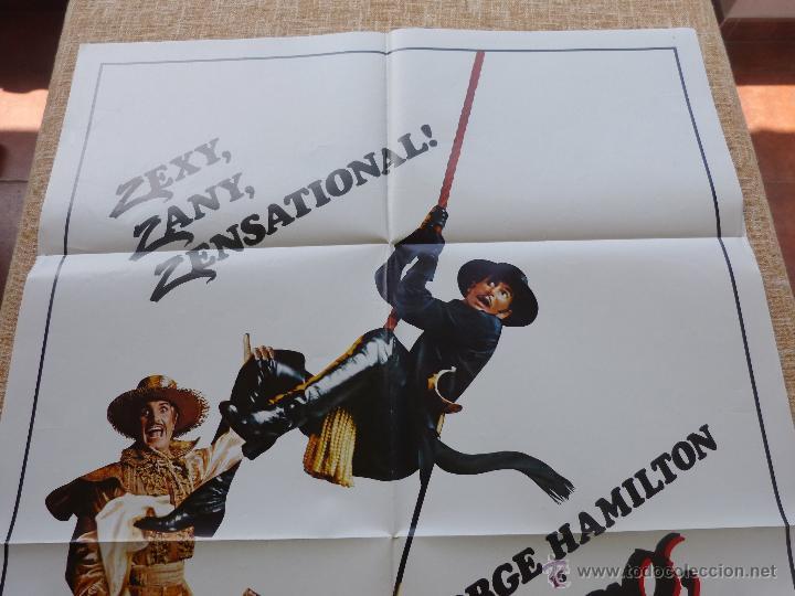 Cine: Zorro: The Gay Blade Póster original de la película, Original, Doblado, año 1981, Hecho en U.S.A. - Foto 3 - 44106937