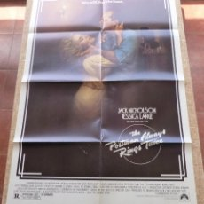 Cine: THE POSTMAN ALWAYS RINGS TWICE PÓSTER ORIGINAL DE LA PELÍCULA, ORIGINAL, DOBLADO, AÑO 1981, U.S.A.. Lote 44107444