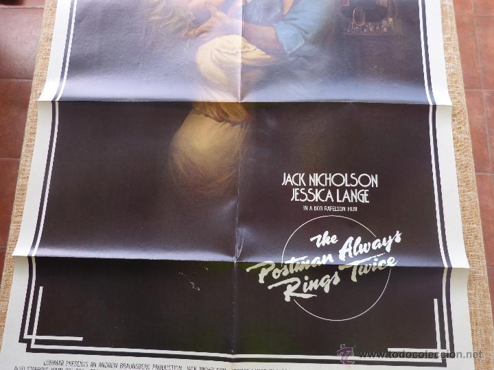 Cine: The Postman Always Rings Twice Póster original de la película, Original, Doblado, año 1981, U.S.A. - Foto 3 - 44107444