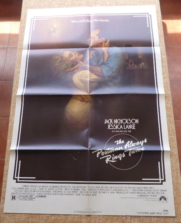 Cine: The Postman Always Rings Twice Póster original de la película, Original, Doblado, año 1981, U.S.A. - Foto 4 - 44107444