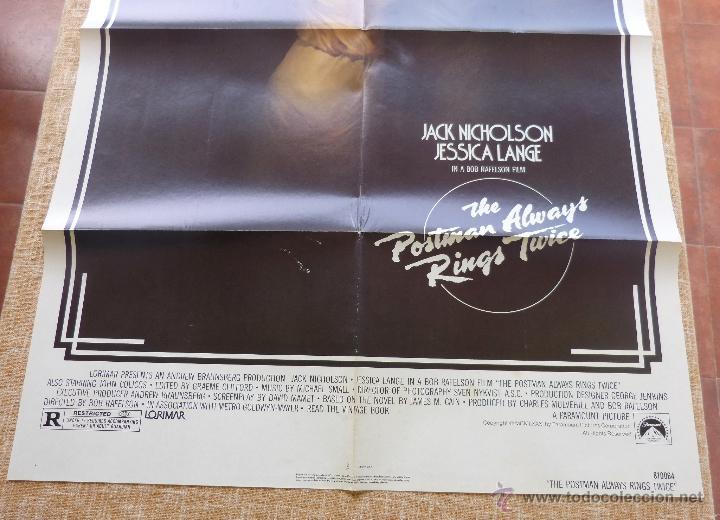 Cine: The Postman Always Rings Twice Póster original de la película, Original, Doblado, año 1981, U.S.A. - Foto 5 - 44107444