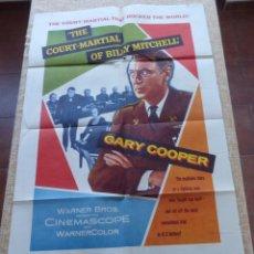Cine: THE COURT-MARTIAL OF BILLY MITCHELL PÓSTER ORIGINAL DE LA PELÍCULA, ORIGINAL, DOBLADO, AÑO 1956, USA. Lote 44124676