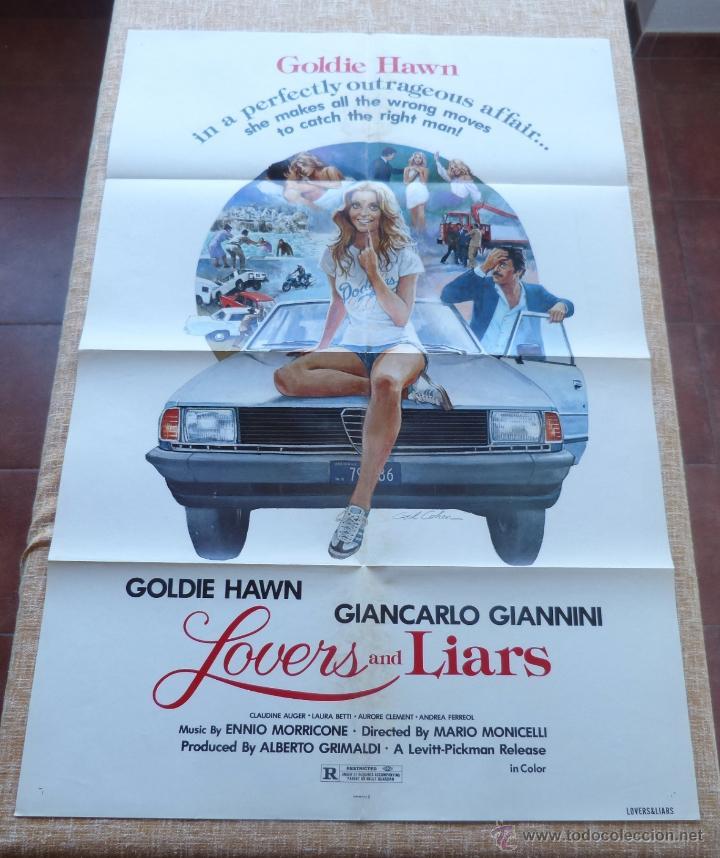 LOVERS AND LIARS PÓSTER ORIGINAL DE LA PELÍCULA, ORIGINAL, DOBLADO, AÑO 1979, HECHO EN U.S.A. (Cine - Posters y Carteles - Comedia)