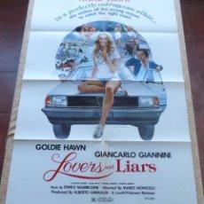 Cine: LOVERS AND LIARS PÓSTER ORIGINAL DE LA PELÍCULA, ORIGINAL, DOBLADO, AÑO 1979, HECHO EN U.S.A.. Lote 44124839