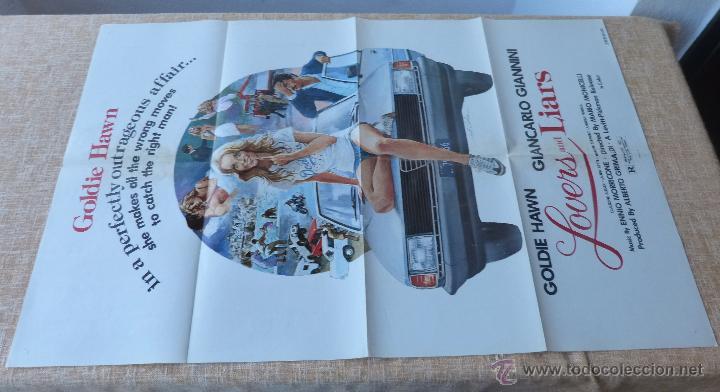 Cine: Lovers and Liars Póster original de la película, Original, Doblado, año 1979, Hecho en U.S.A. - Foto 2 - 44124839
