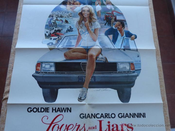 Cine: Lovers and Liars Póster original de la película, Original, Doblado, año 1979, Hecho en U.S.A. - Foto 4 - 44124839