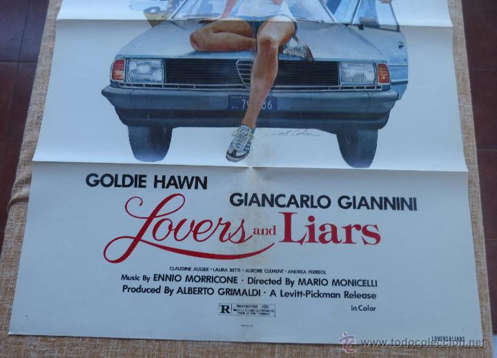 Cine: Lovers and Liars Póster original de la película, Original, Doblado, año 1979, Hecho en U.S.A. - Foto 5 - 44124839