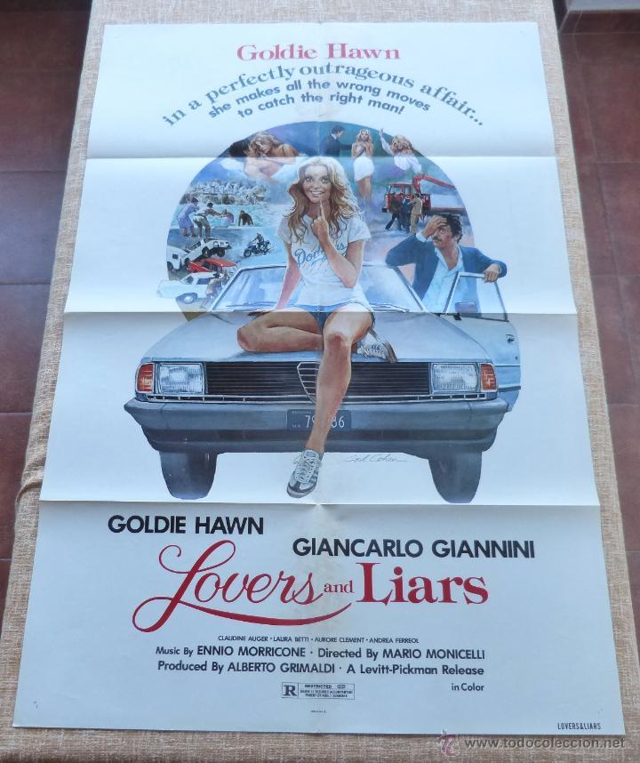 Cine: Lovers and Liars Póster original de la película, Original, Doblado, año 1979, Hecho en U.S.A. - Foto 6 - 44124839