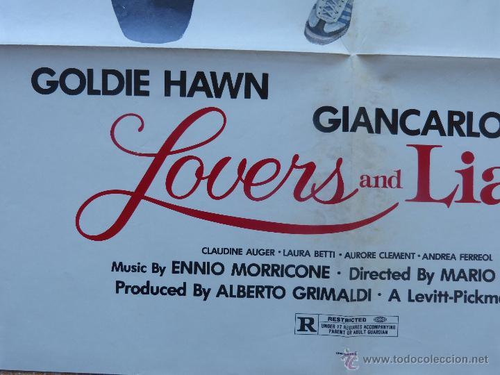 Cine: Lovers and Liars Póster original de la película, Original, Doblado, año 1979, Hecho en U.S.A. - Foto 7 - 44124839