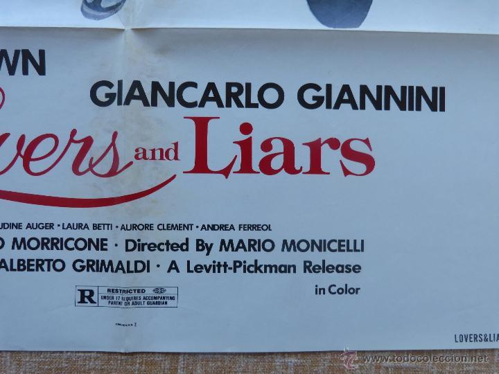 Cine: Lovers and Liars Póster original de la película, Original, Doblado, año 1979, Hecho en U.S.A. - Foto 8 - 44124839