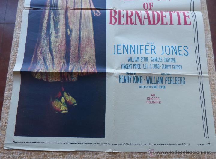 Cine: The Song of Bernadette Póster original de la película, Original, Doblado, año 1958, Hecho en U.S.A. - Foto 6 - 44125294