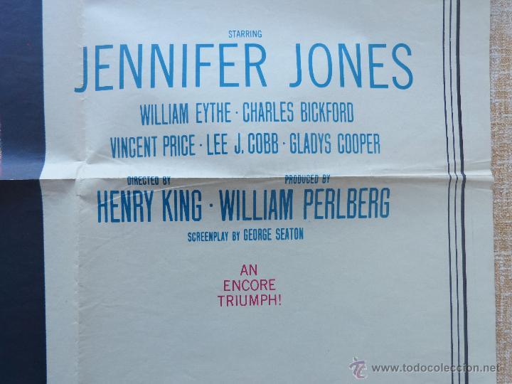 Cine: The Song of Bernadette Póster original de la película, Original, Doblado, año 1958, Hecho en U.S.A. - Foto 8 - 44125294