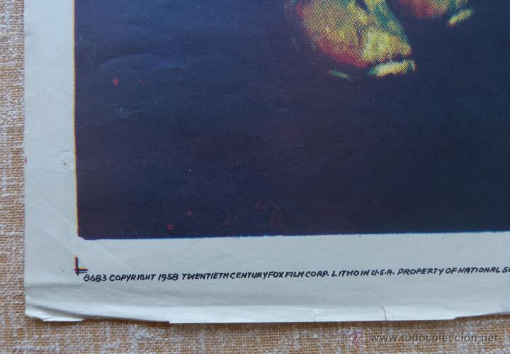 Cine: The Song of Bernadette Póster original de la película, Original, Doblado, año 1958, Hecho en U.S.A. - Foto 9 - 44125294