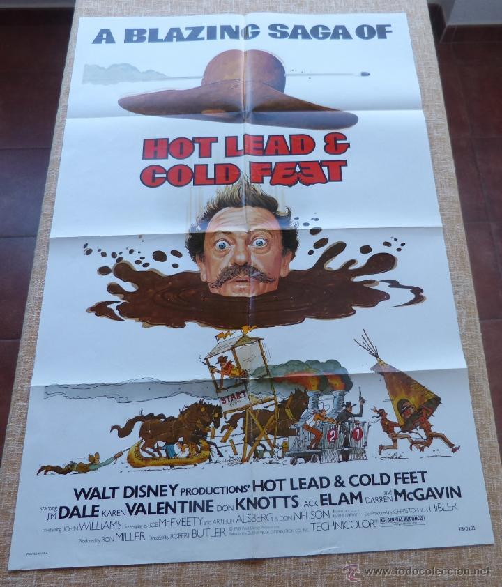HOT LEAD AND COLD FEET PÓSTER ORIGINAL DE LA PELÍCULA, DOBLADO, ORIGINAL, AÑO 1978, HECHO EN U.S.A. (Cine - Posters y Carteles - Westerns)