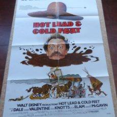 Cine: HOT LEAD AND COLD FEET PÓSTER ORIGINAL DE LA PELÍCULA, DOBLADO, ORIGINAL, AÑO 1978, HECHO EN U.S.A.. Lote 44125396