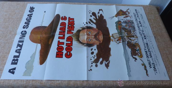 Cine: Hot Lead and Cold Feet Póster original de la película, Doblado, Original, año 1978, Hecho en U.S.A. - Foto 2 - 44125396
