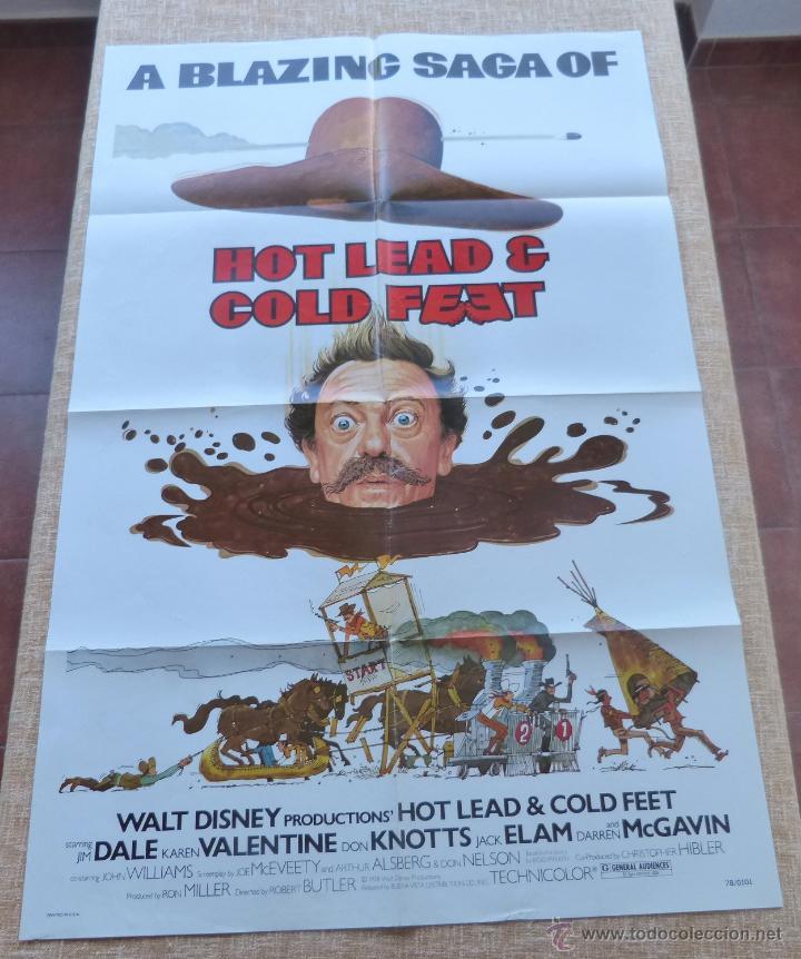 Cine: Hot Lead and Cold Feet Póster original de la película, Doblado, Original, año 1978, Hecho en U.S.A. - Foto 3 - 44125396