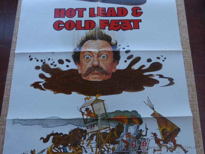 Cine: Hot Lead and Cold Feet Póster original de la película, Doblado, Original, año 1978, Hecho en U.S.A. - Foto 5 - 44125396