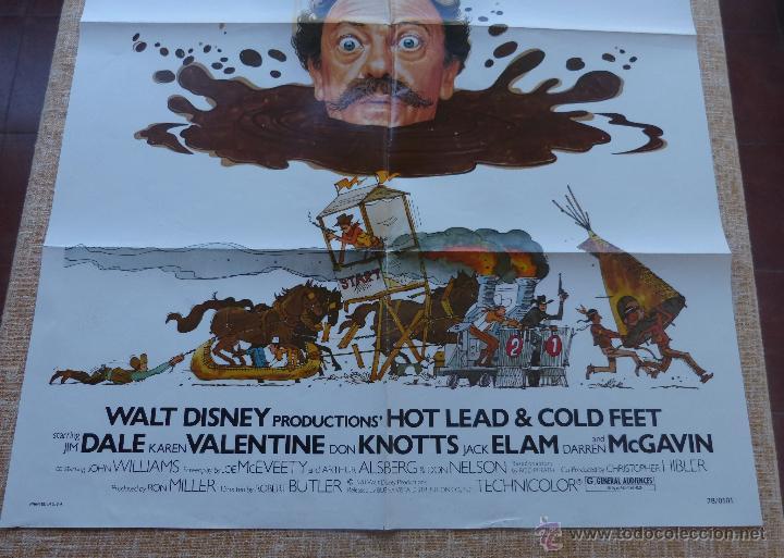 Cine: Hot Lead and Cold Feet Póster original de la película, Doblado, Original, año 1978, Hecho en U.S.A. - Foto 6 - 44125396