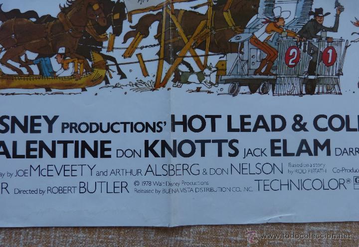 Cine: Hot Lead and Cold Feet Póster original de la película, Doblado, Original, año 1978, Hecho en U.S.A. - Foto 8 - 44125396