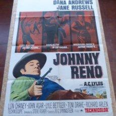 Cine: JOHNNY RENO PÓSTER ORIGINAL DE LA PELÍCULA, ORIGINAL, DOBLADO, AÑO 1966, JOHN AGAR, HECHO EN U.S.A.. Lote 44131601