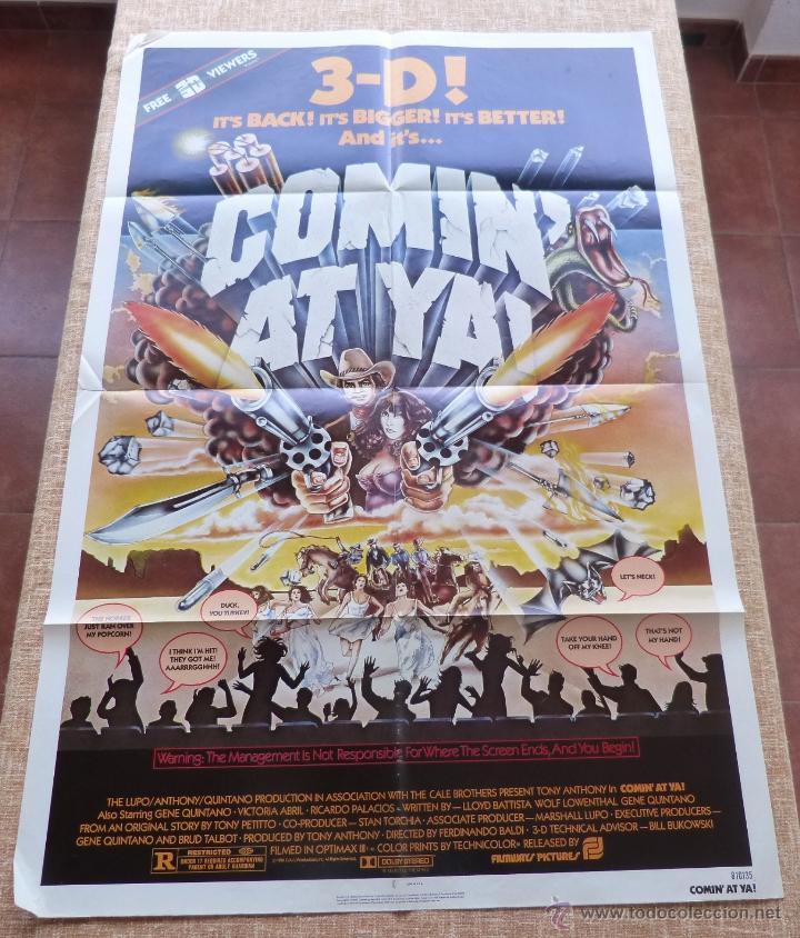 COMIN´ AT YA PÓSTER ORIGINAL DE LA PELÍCULA, ORIGINAL, DOBLADO, ONE SHEET, AÑO 1981, HECHO EN U.S.A. (Cine - Posters y Carteles - Westerns)