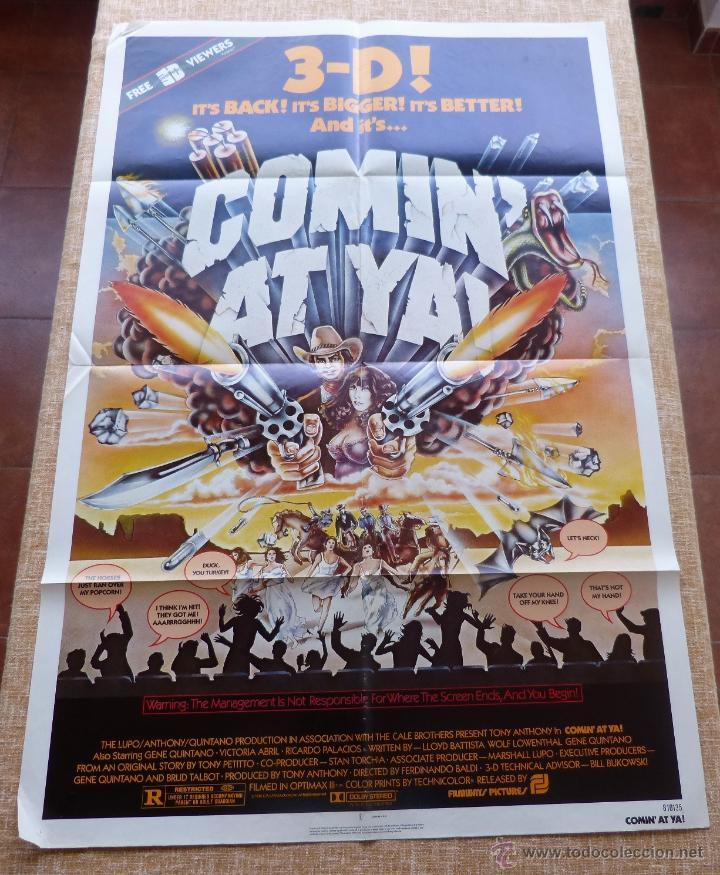 Cine: Comin´ At Ya Póster original de la película, Original, Doblado, One Sheet, año 1981, Hecho en U.S.A. - Foto 3 - 44132697