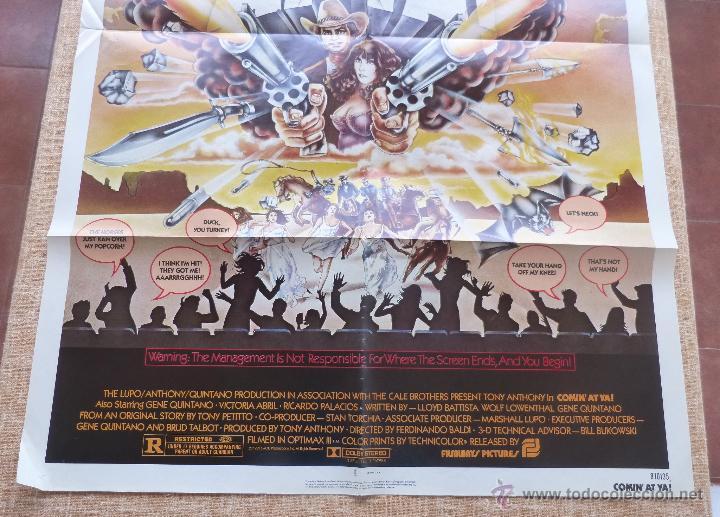 Cine: Comin´ At Ya Póster original de la película, Original, Doblado, One Sheet, año 1981, Hecho en U.S.A. - Foto 6 - 44132697