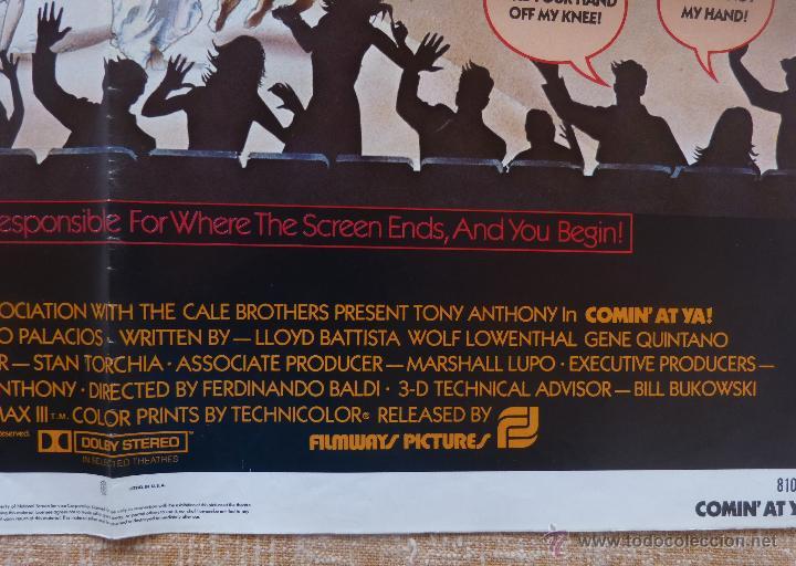 Cine: Comin´ At Ya Póster original de la película, Original, Doblado, One Sheet, año 1981, Hecho en U.S.A. - Foto 8 - 44132697